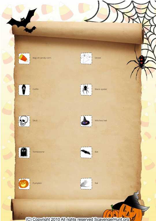 Emma`s Halloween Scavenger Hunt