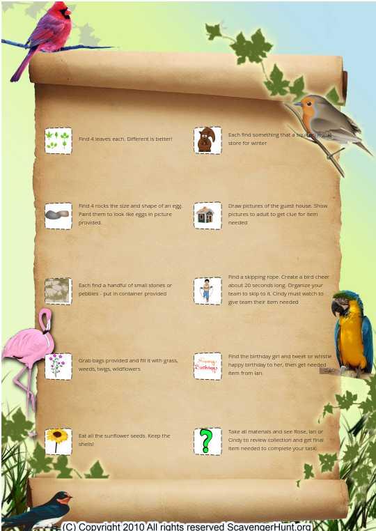 Bird Treasure Hunt