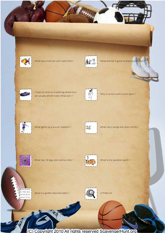 Sports Riddles