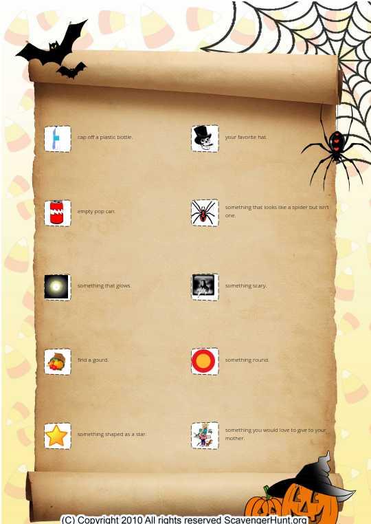 scavenger hunt list 2
