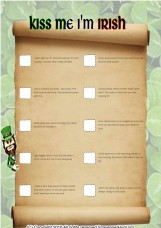 St. Patrick`s Day Treasure Scavenger Hunt